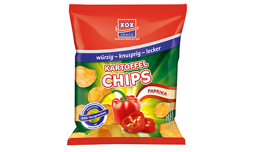 Paprika Chips aus dem Wurfmaterial Sortiment